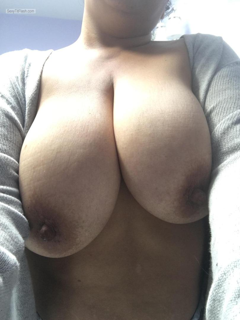 Tit Flash: My Very Big Tits (Selfie) - Luvyduvy from United States