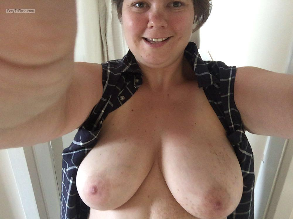 My Very big Tits Topless Selfie by Sexy Becky