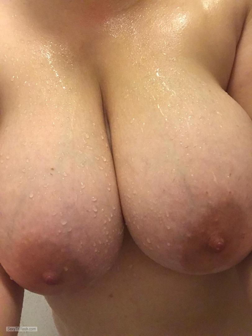 Tit Flash: My Very Big Tits (Selfie) - Horny from Italy