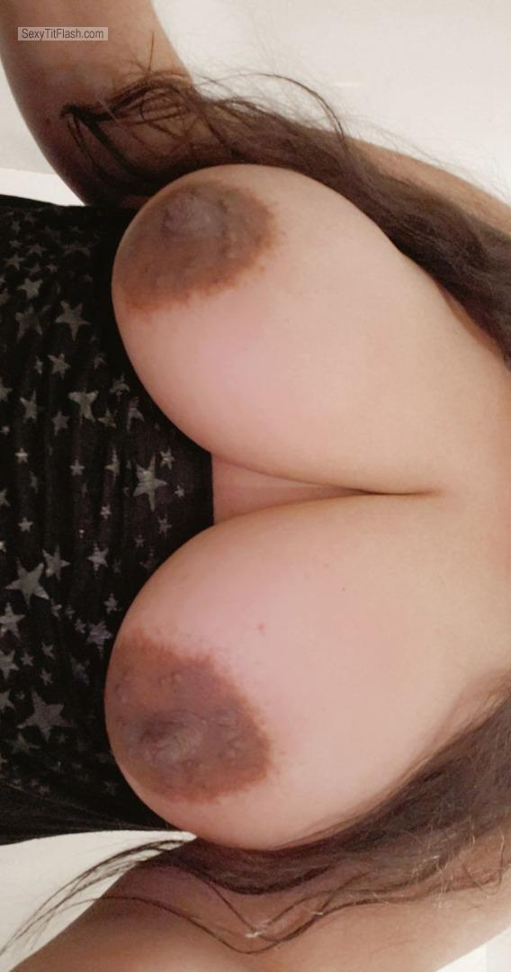 Tit Flash: My Very Big Tits (Selfie) - Miss DDs from United States