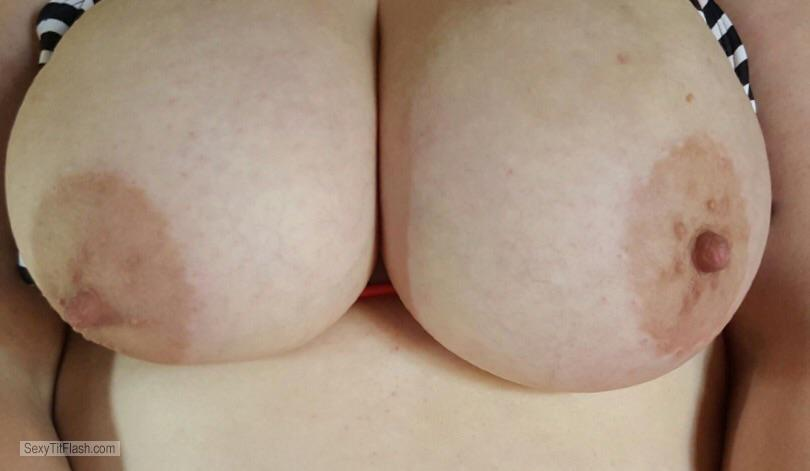 Tit Flash: Girlfriend's Very Big Tits - BustyLaRue from Canada