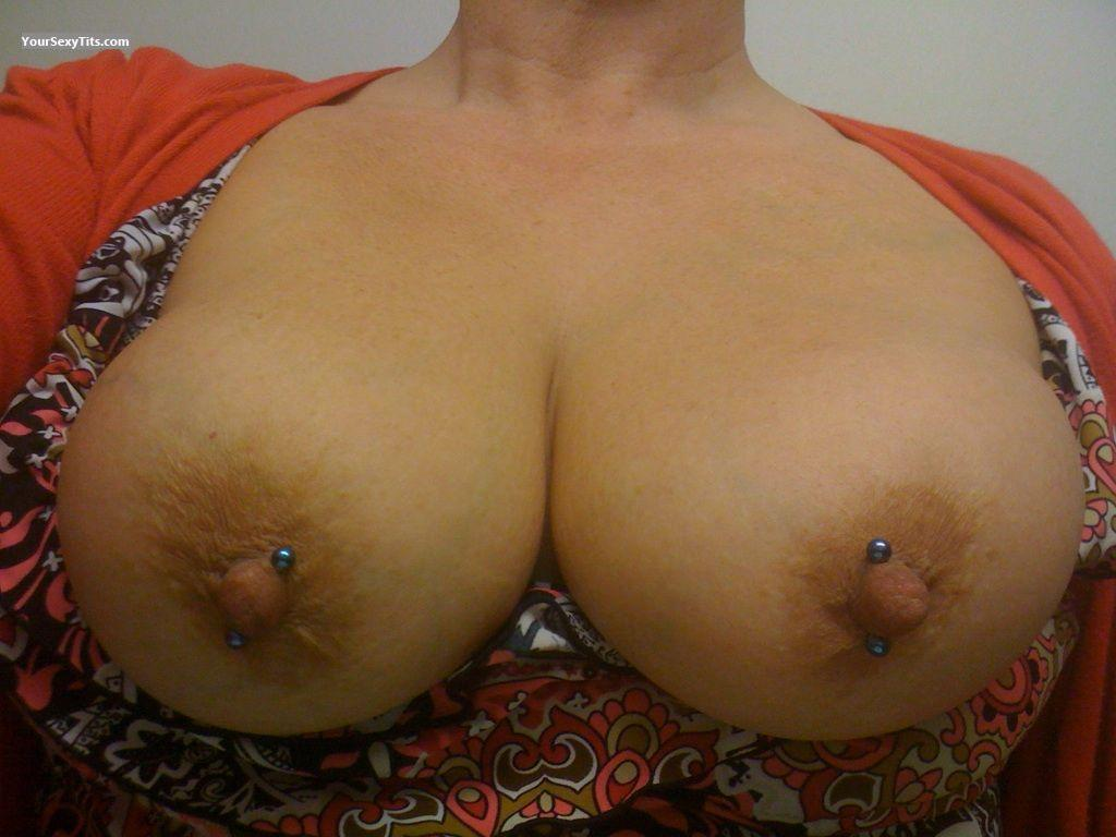 Tit Flash: My Very Big Tits (Selfie) - L from United StatesPierced Nipples