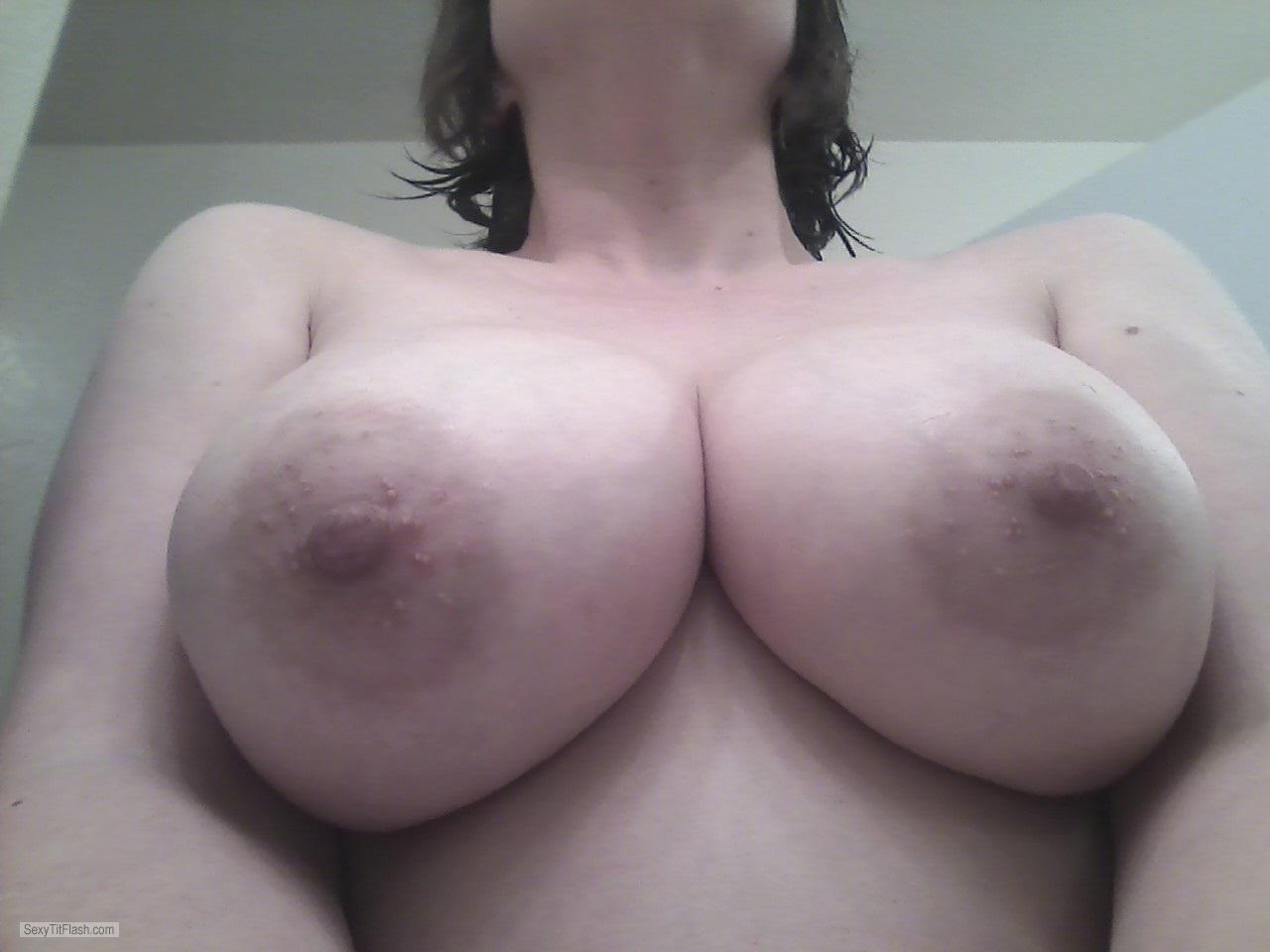 Tit Flash: My Very Big Tits (Selfie) - Lissa from United States
