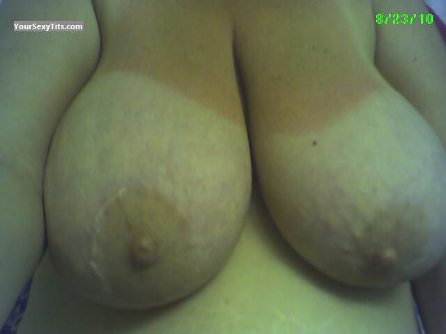 Tit Flash: My Very Big Tits (Selfie) - DD Attention Getter from United States