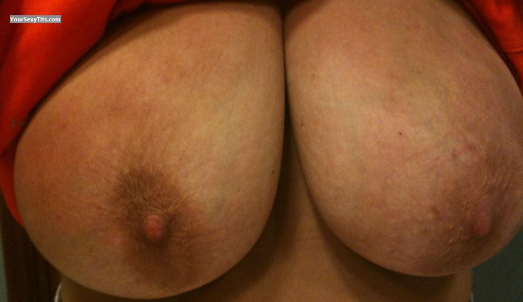 Tit Flash: Wife's Very Big Tits (Selfie) - Natural Wifey from United States