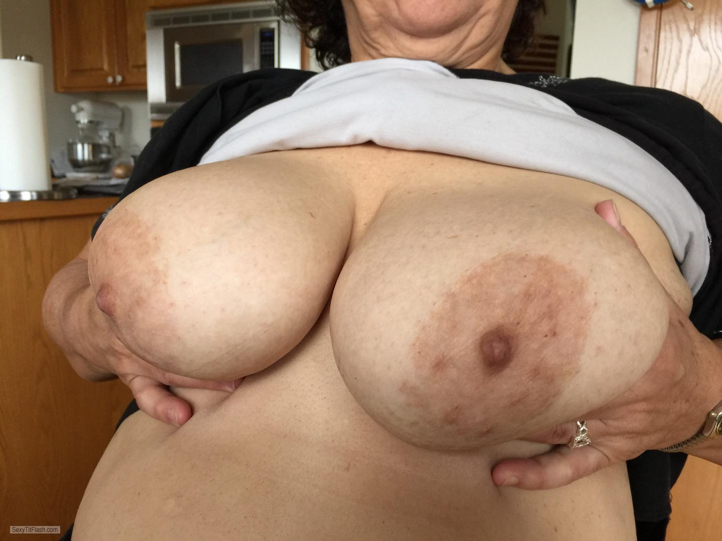 Tit Flash: My Very Big Tits - Hot Wife from United States