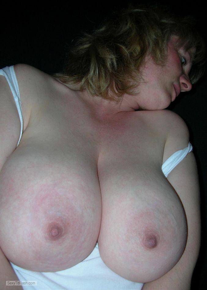 Very big Tits Of A Coworker Topless Pink Areola