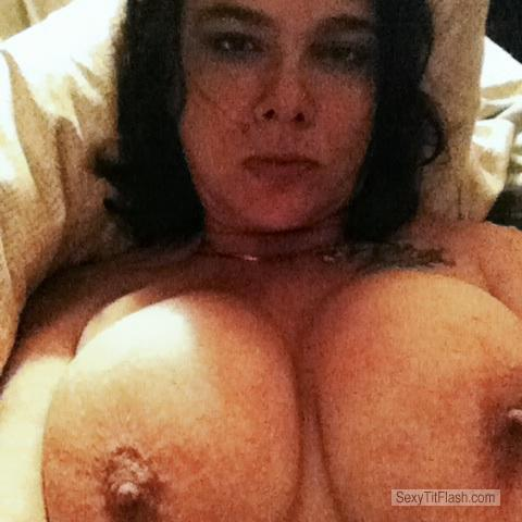 Tit Flash: My Very Big Tits (Selfie) - Topless Joie73 from United States