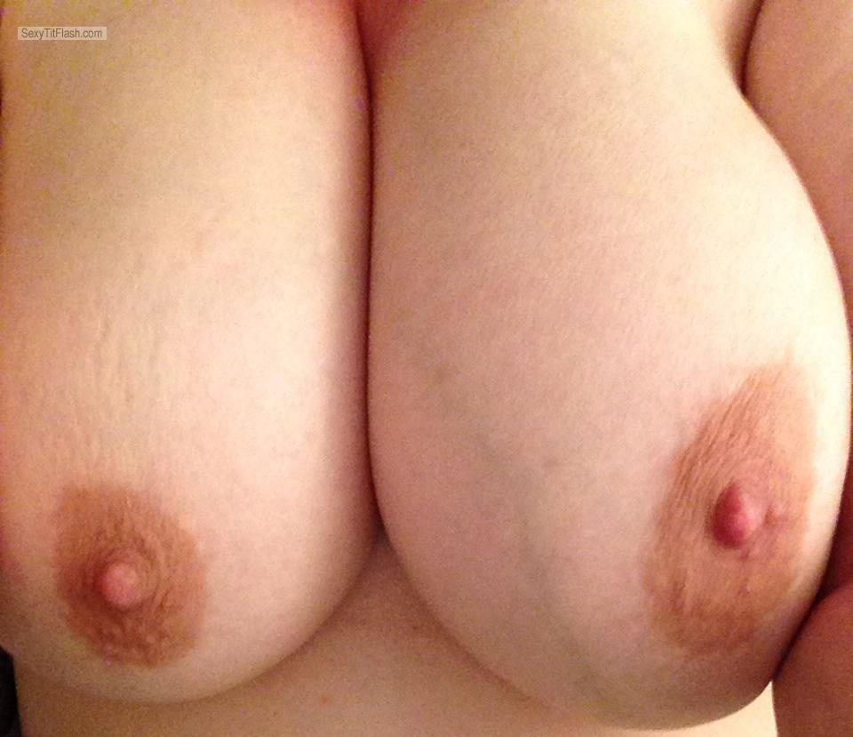 Tit Flash: My Very Big Tits (Selfie) - Cum Princess from United States