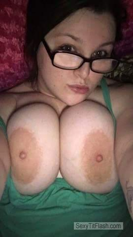 Very big Tits Of My Wife Topless Selfie by Wifes Big Titd And Areolas