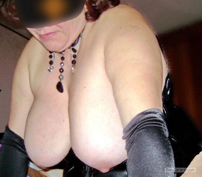 Tit Flash: Wife's Very Big Tits - Bjval from Italy