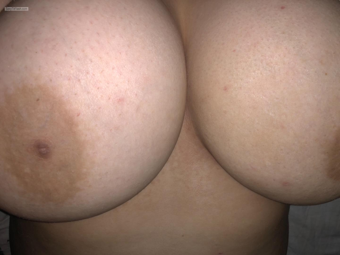 Tit Flash: My Very Big Tits (Selfie) - Trinity from United States