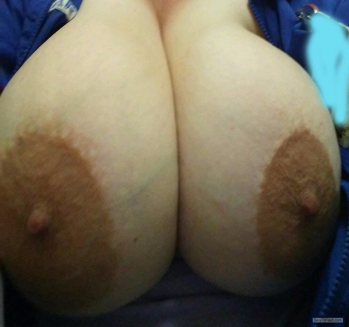 Tit Flash: My Very Big Tits (Selfie) - Double Damn from United States