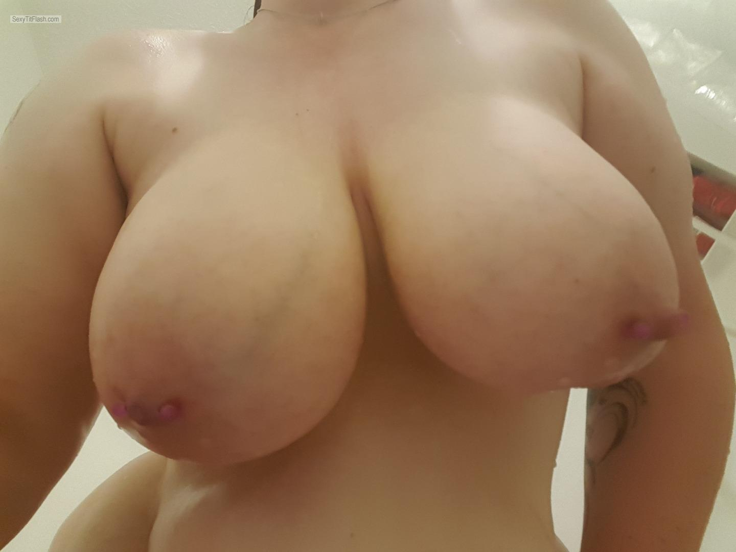 Tit Flash: My Very Big Tits (Selfie) - Bigtittymilf from United KingdomPierced Nipples