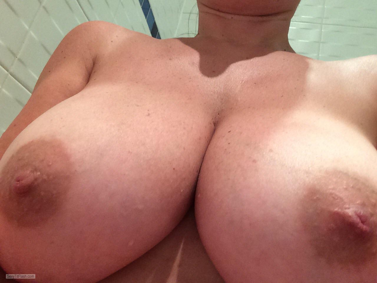Tit Flash: My Very Big Tits (Selfie) - Topless GGDent from United Kingdom