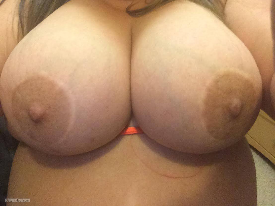 Tit Flash: My Friend's Very Big Tits (Selfie) - Fat Tits from United States