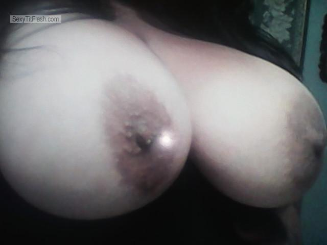 Tit Flash: My Very Big Tits - Topless Native from United States