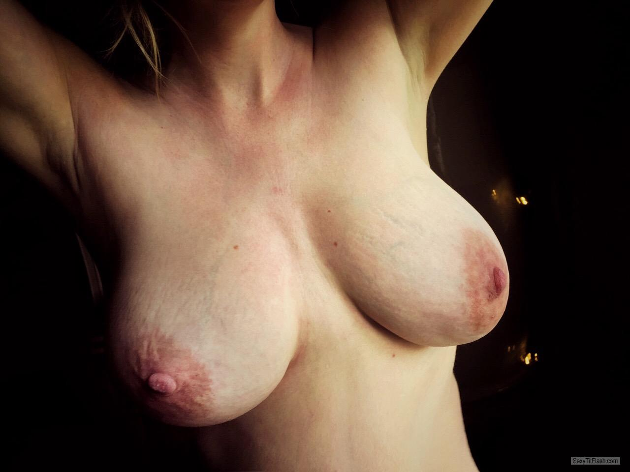 Tit Flash: My Very Big Tits - Topless North from Canada