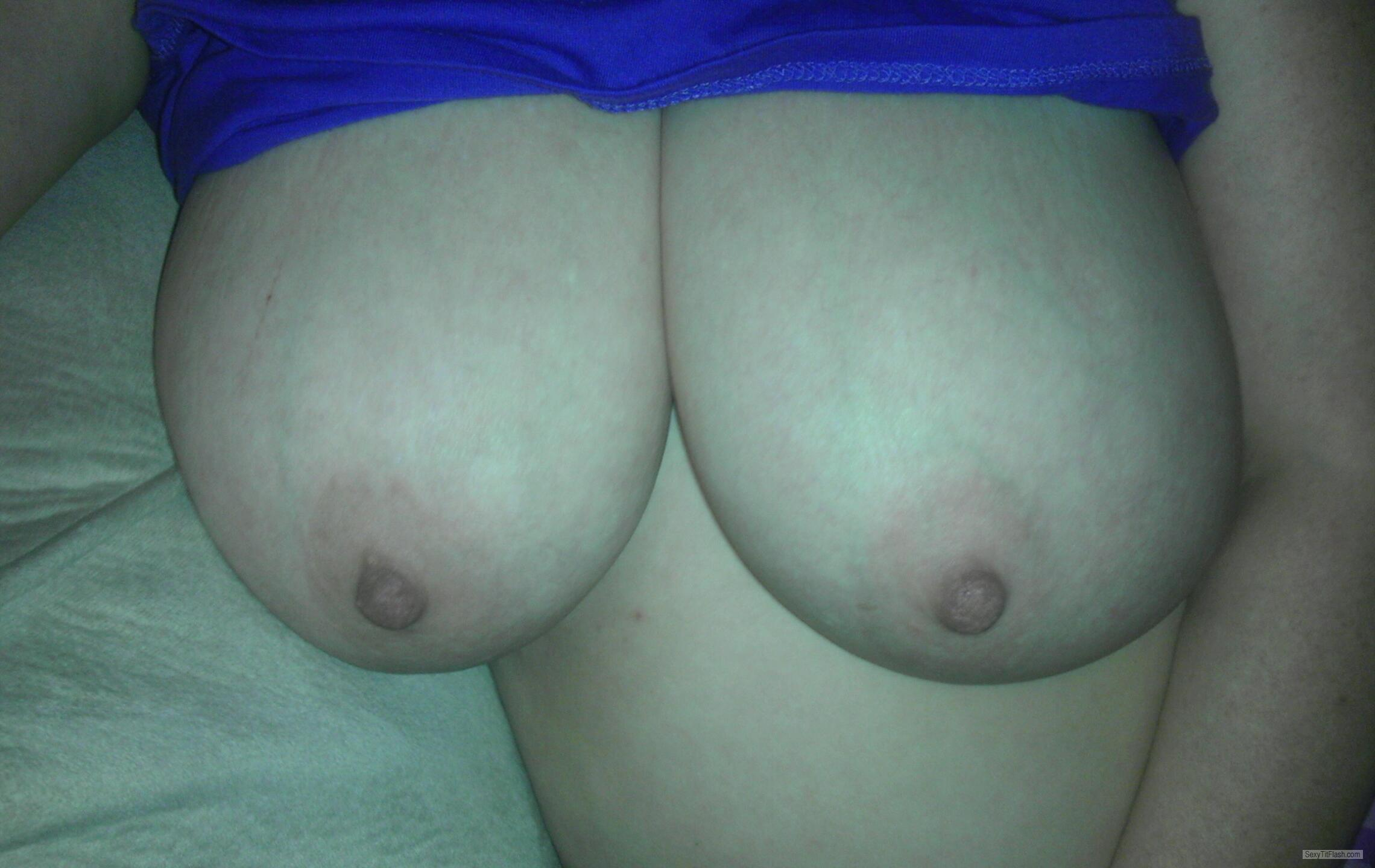 Tit Flash: Wife's Very Big Tits - Heavy DDDs from United States