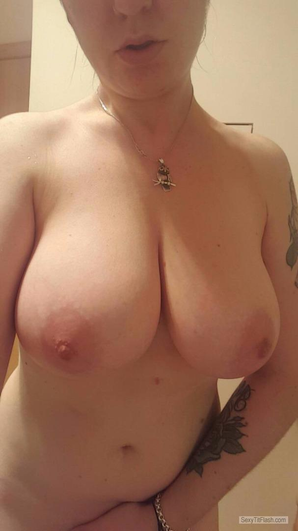 Tit Flash: My Very Big Tits (Selfie) - Topless Kinky Kate from Australia