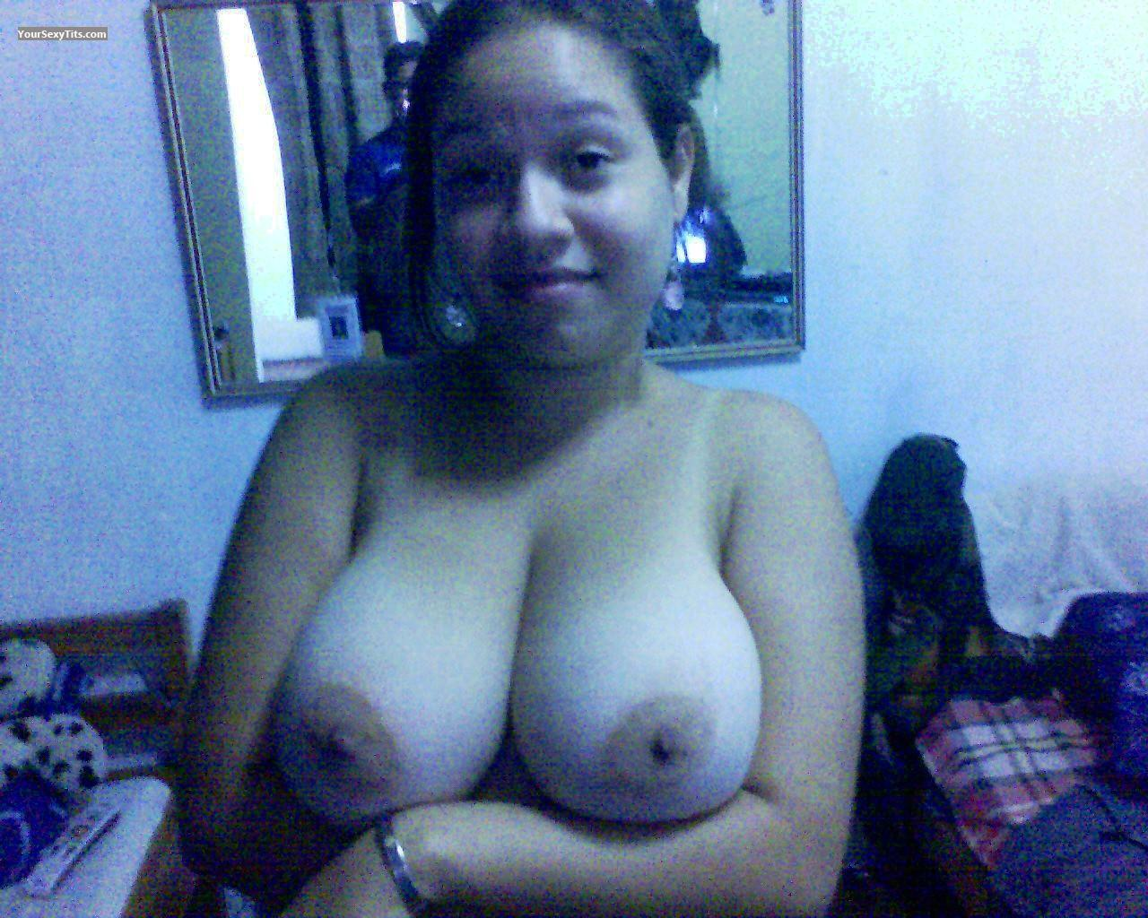 Tit Flash: Very Big Tits - Topless ADRIANA  CHIQUI from Venezuela