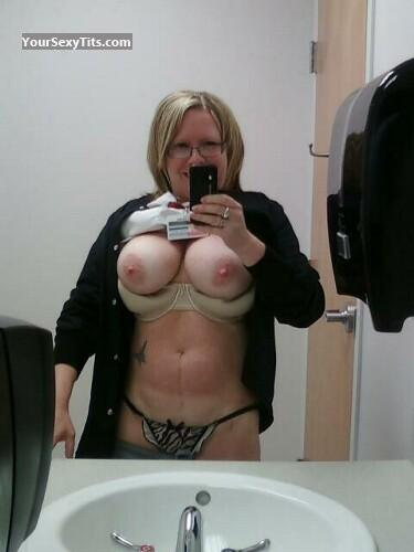 Tit Flash: Very Big Tits - Topless Debbie from United States