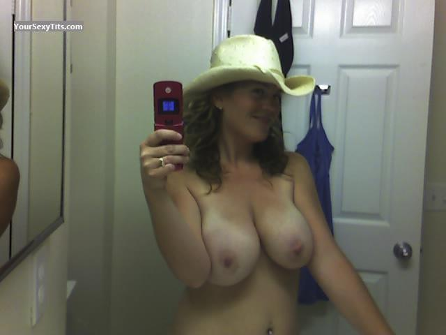 Tit Flash: My Very Big Tits (Selfie) - Topless Brenda from United States