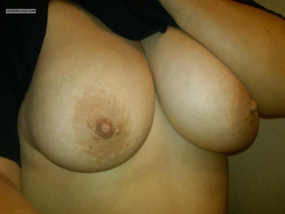Tit Flash: My Friend's Very Big Tits (Selfie) - Purple P from United States