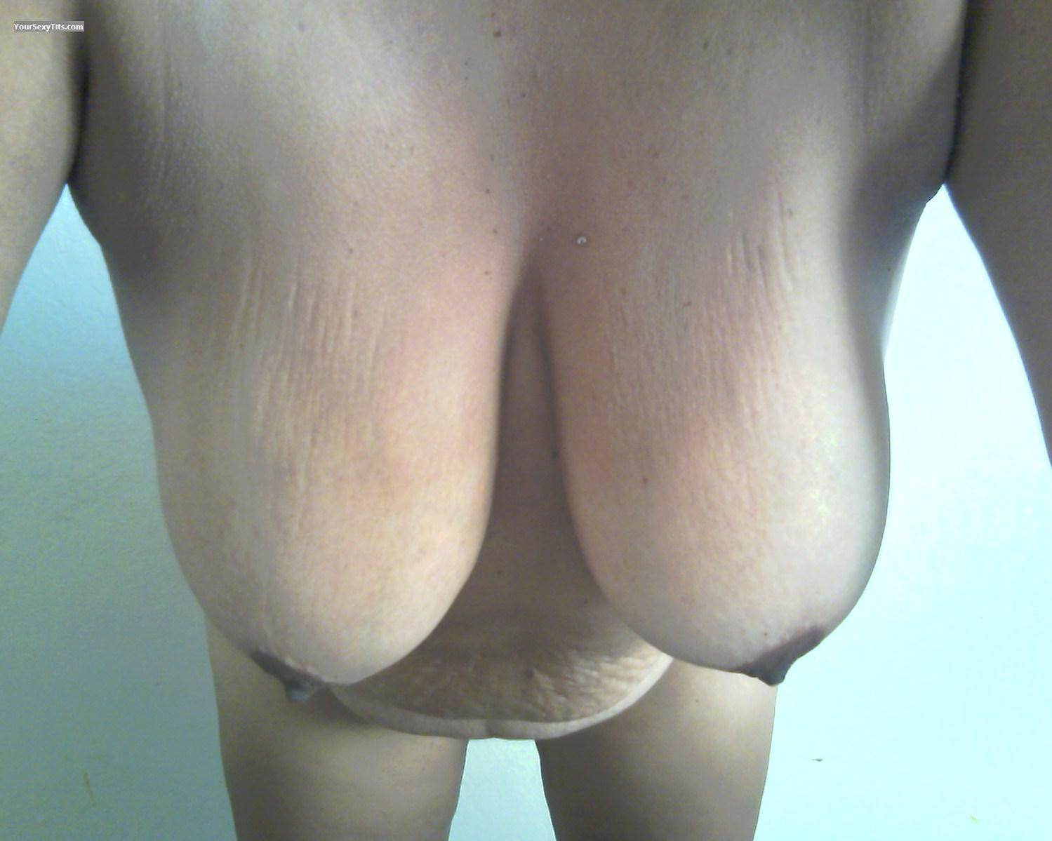Tit Flash: Wife's Very Big Tits - Brown Beauty from United States