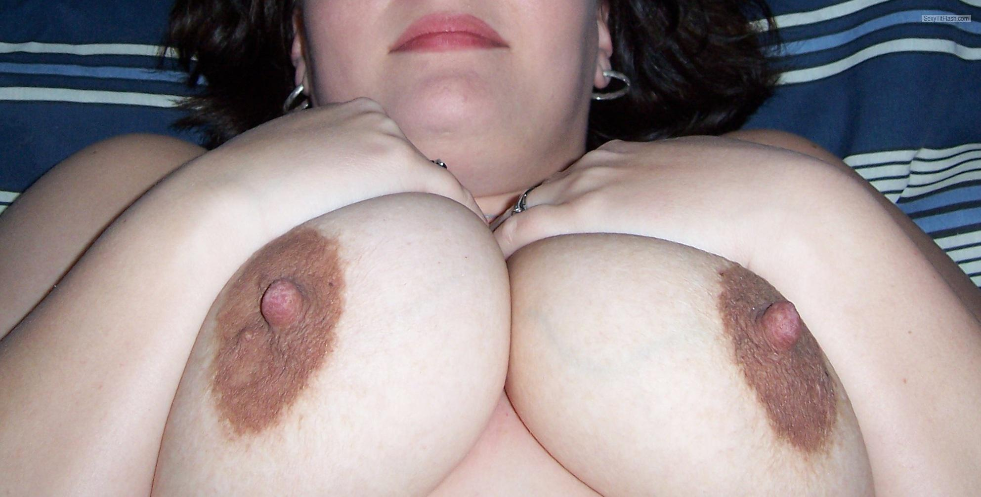 Tit Flash: Ex-Wife's Very Big Tits - T from United States