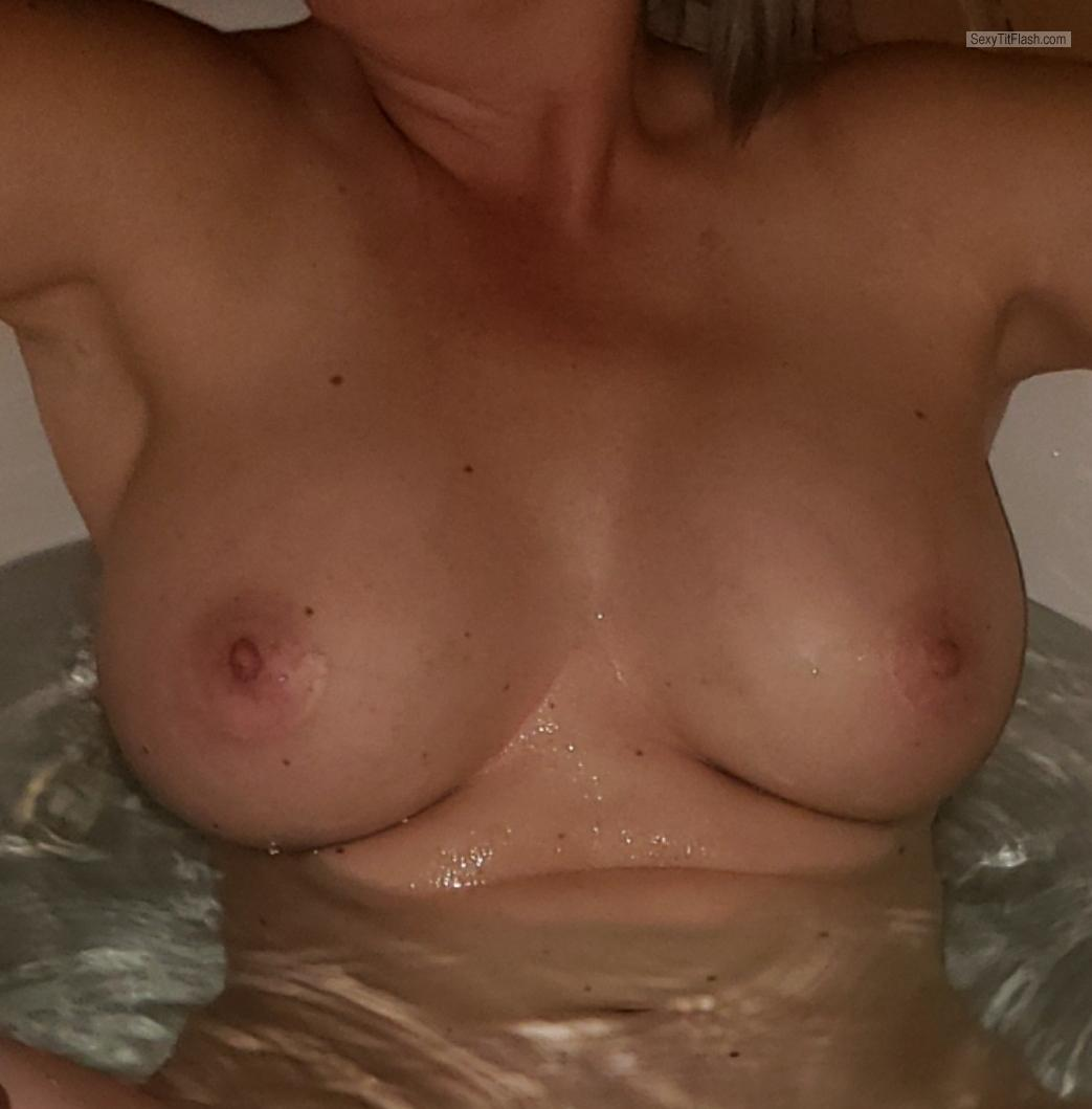 Tit Flash: My Very Big Tits (Selfie) - Farm Girl from United States