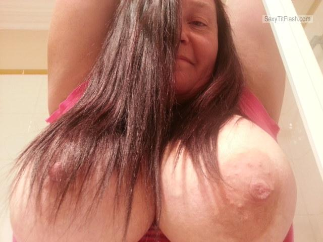 Tit Flash: Wife's Very Big Tits - Maryanne from Australia