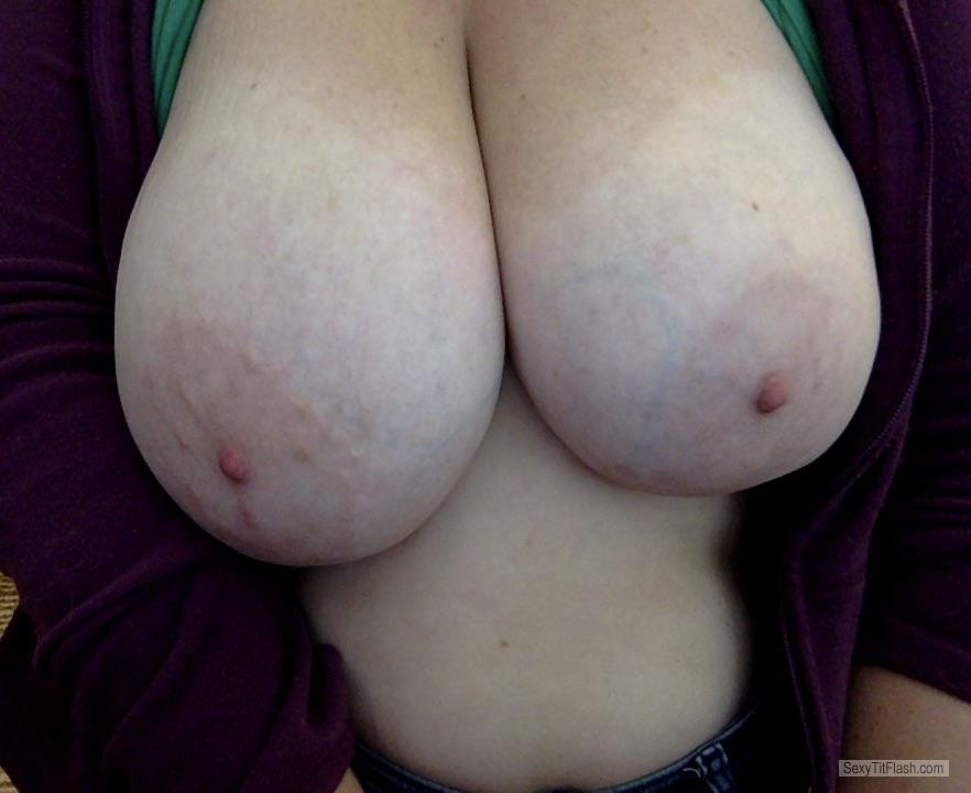 Tit Flash: My Very Big Tits (Selfie) - Ms. Thea from United States