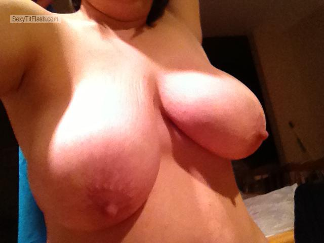 Tit Flash: Wife's Very Big Tits (Selfie) - Milfof3 from United States