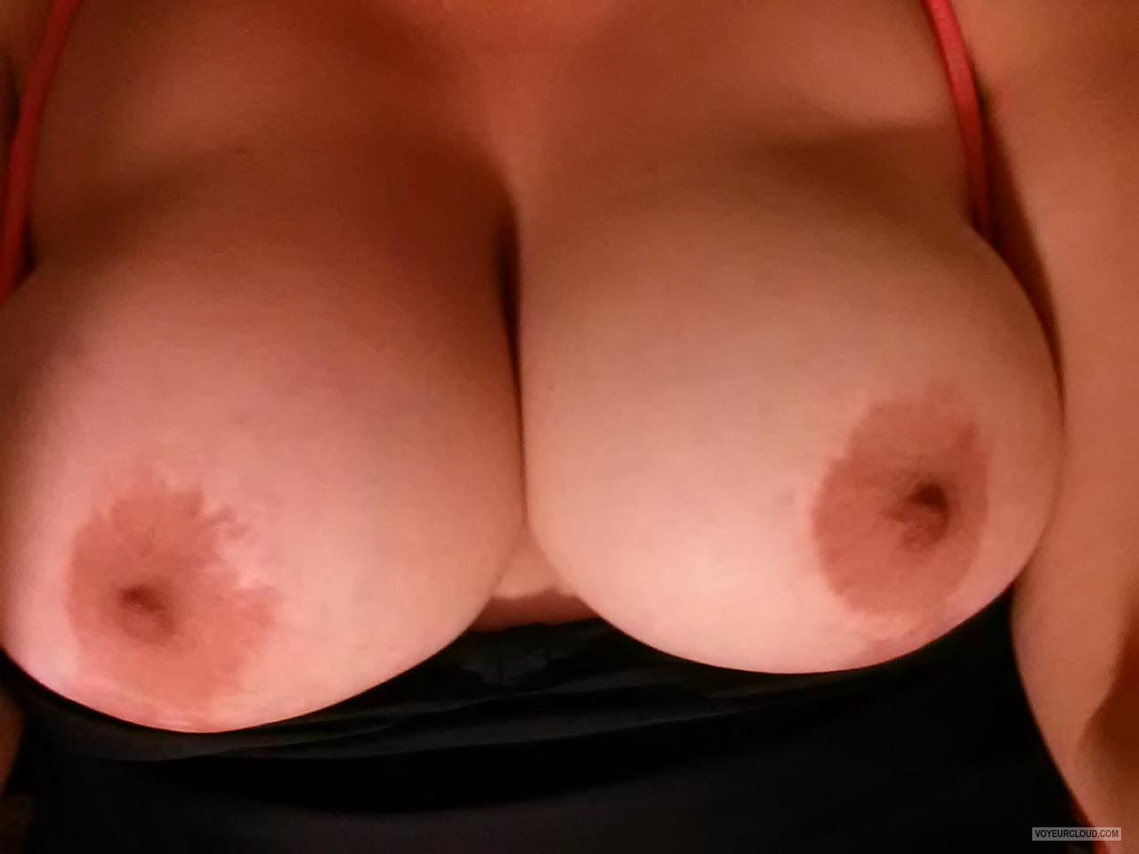 Tit Flash: My Very Big Tits (Selfie) - My Big Titties from United States