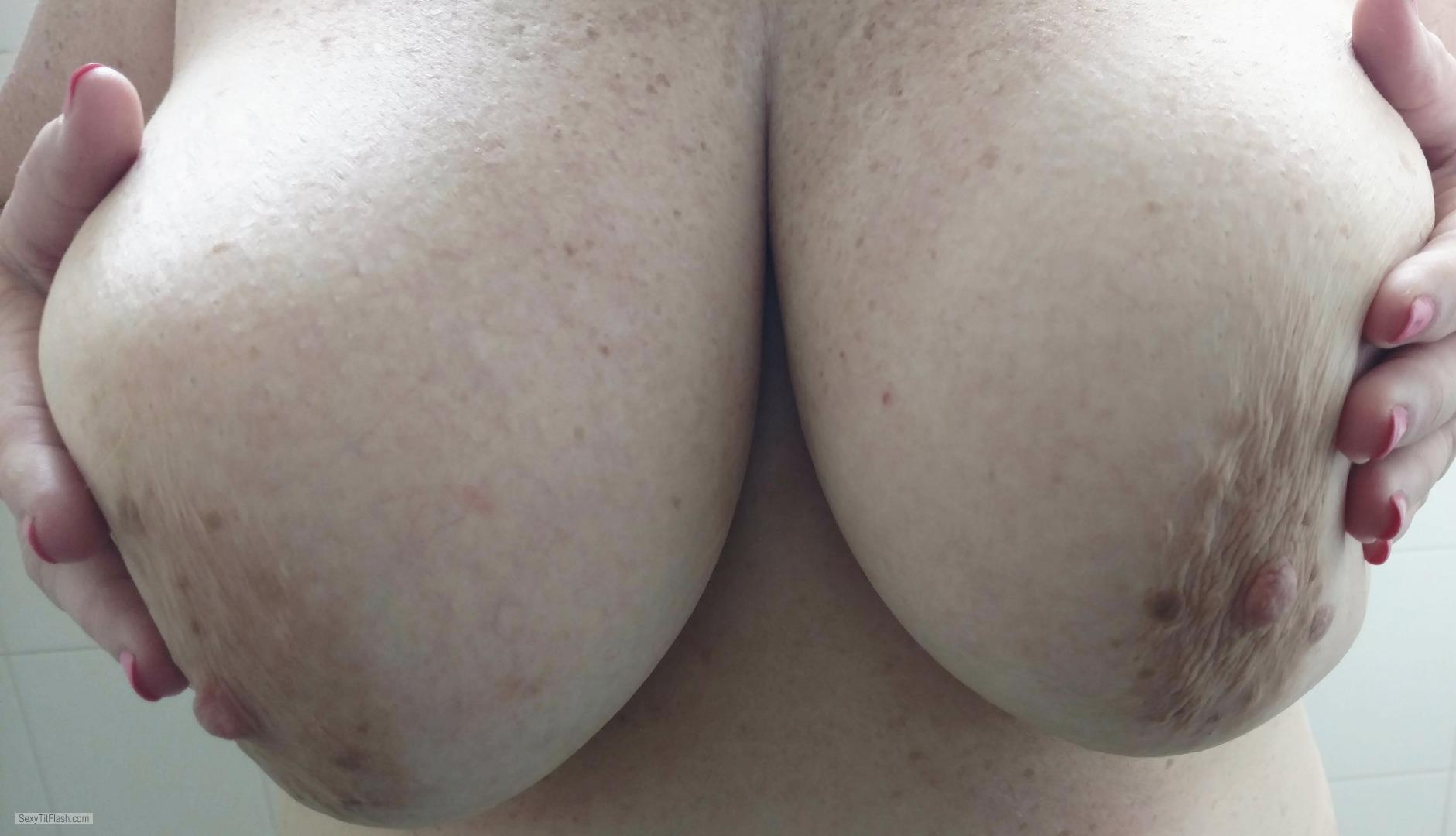 Tit Flash: My Very Big Tits - Baby-G from United States
