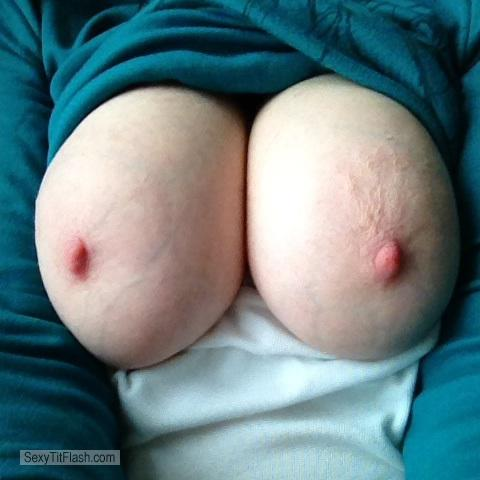 Tit Flash: My Very Big Tits (Selfie) - Crazy Boobs from Switzerland