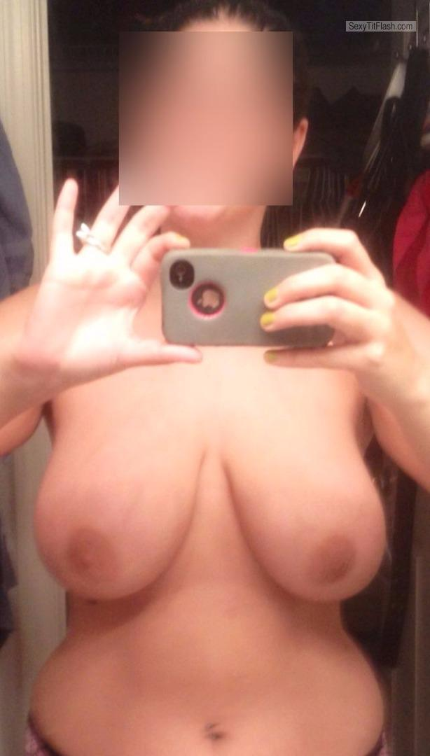 Tit Flash: My Friend's Very Big Tits (Selfie) - Stacy from United States