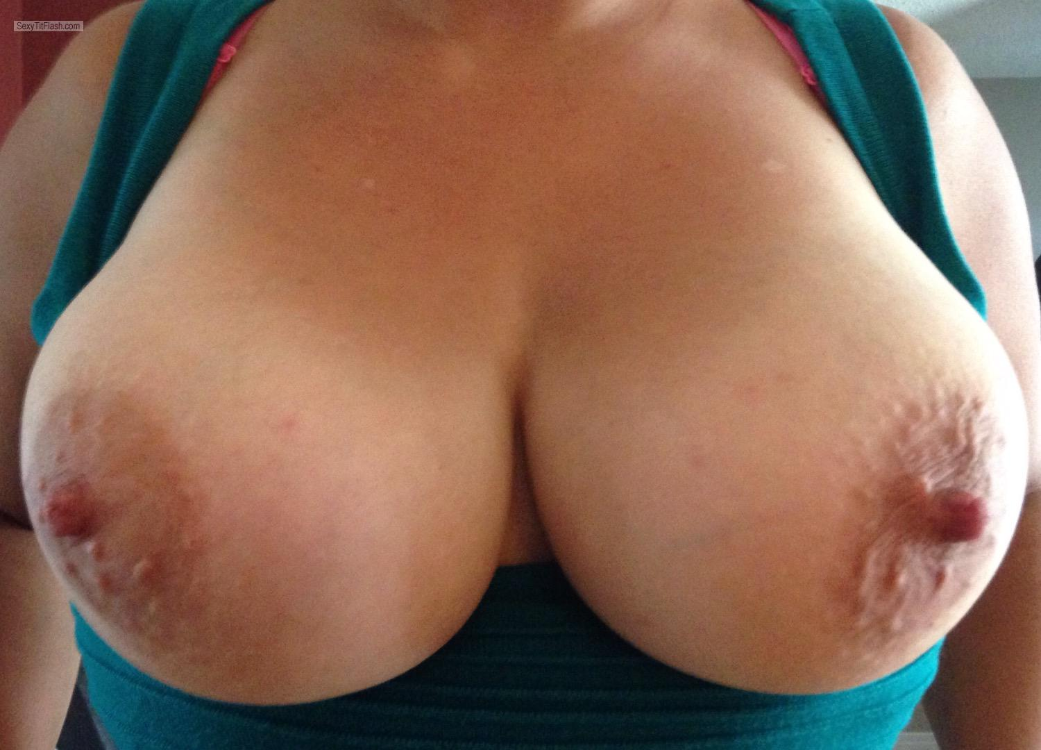 Tit Flash: My Very Big Tits - Youngnbusty from United States
