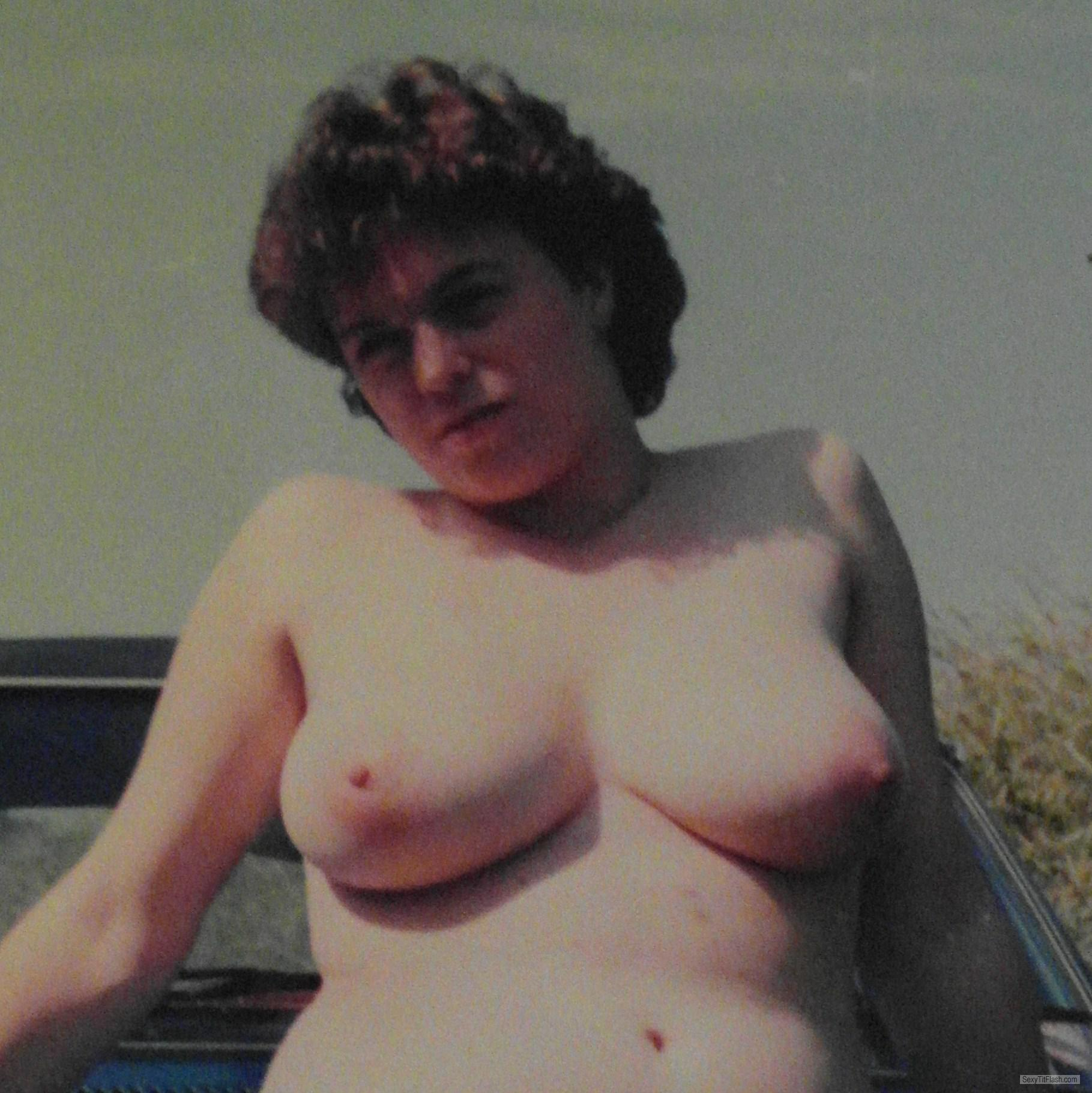 Tit Flash: My Friend's Very Big Tits - Retro Nude from United Kingdom