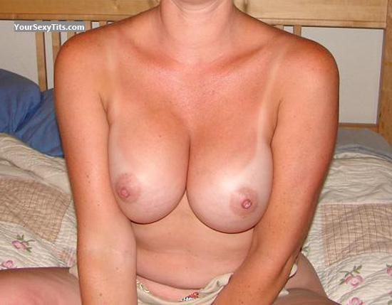 Tit Flash: Wife's Medium Tits - Dee from United States