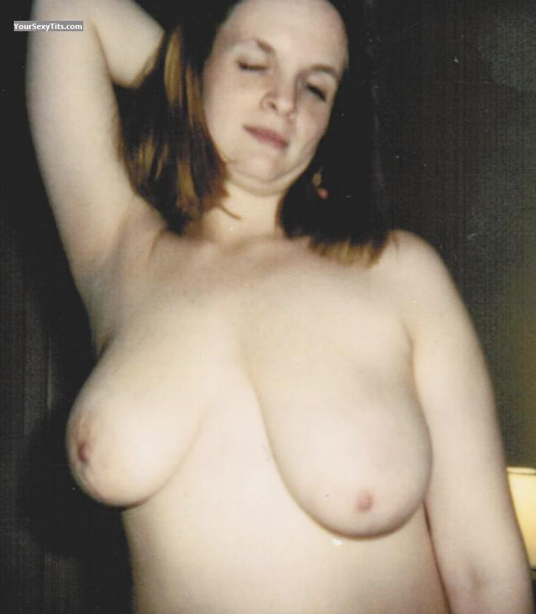 Tit Flash: Very Big Tits - Jan Topless from United States