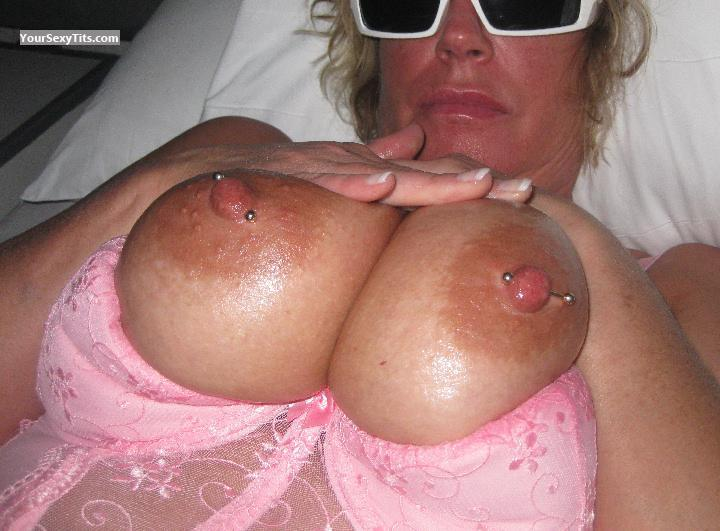 Tit Flash: Very Big Tits - Suzy from CanadaPierced Nipples