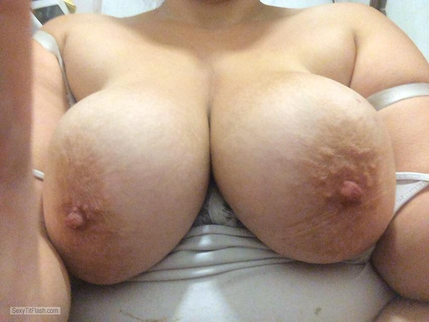 Tit Flash: My Very Big Tits - Topless Wo Big Tits from United Kingdom
