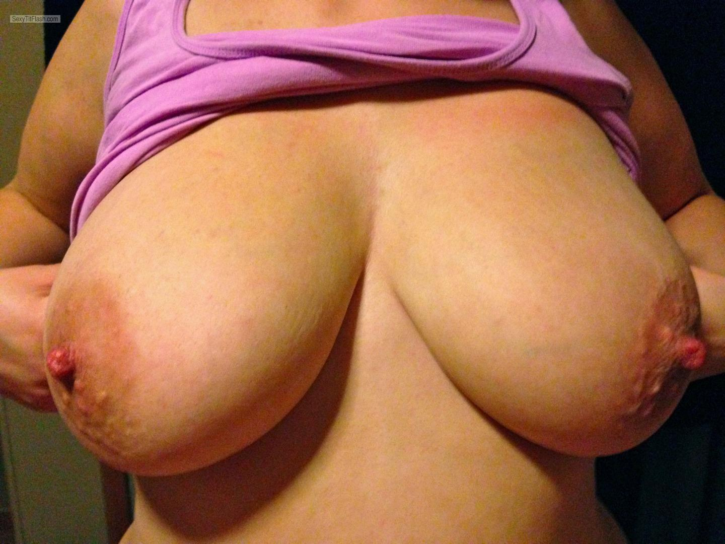 Tit Flash: My Very Big Tits - Thicknbusty from United Kingdom
