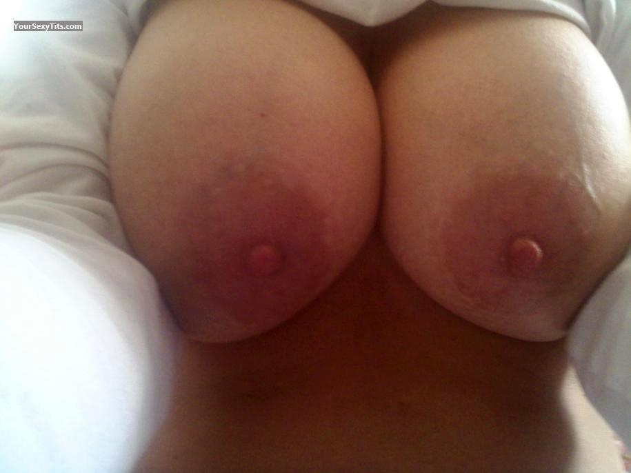 Tit Flash: My Very Big Tits (Selfie) - George13 from United States