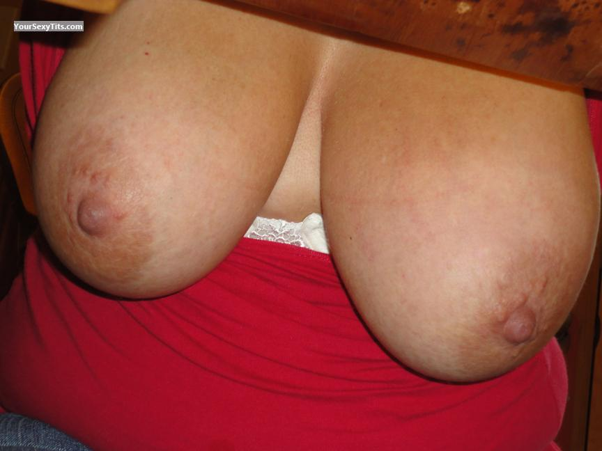Tit Flash: Wife's Very Big Tits - Sweetdove from Canada