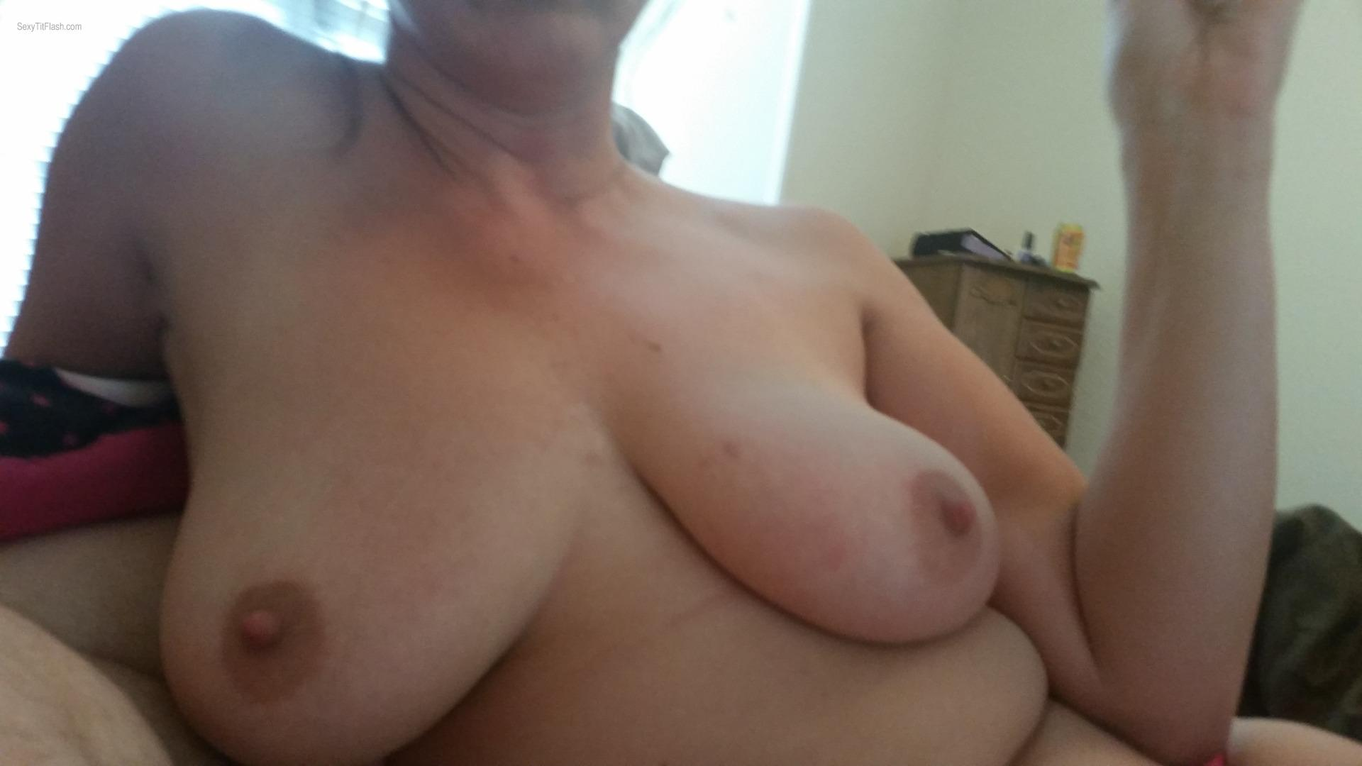 Tit Flash: My Very Big Tits - Naughty Mommy from United States