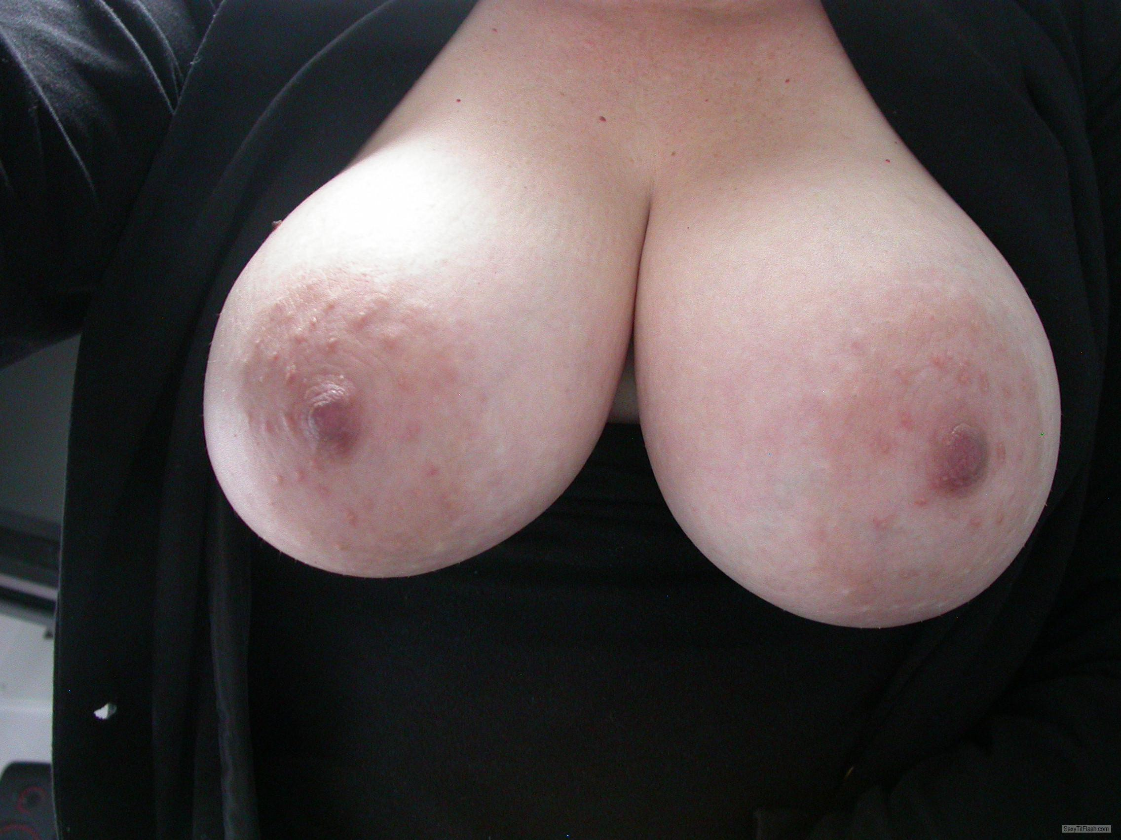 Tit Flash: Wife's Very Big Tits - ***** from Tuvalu
