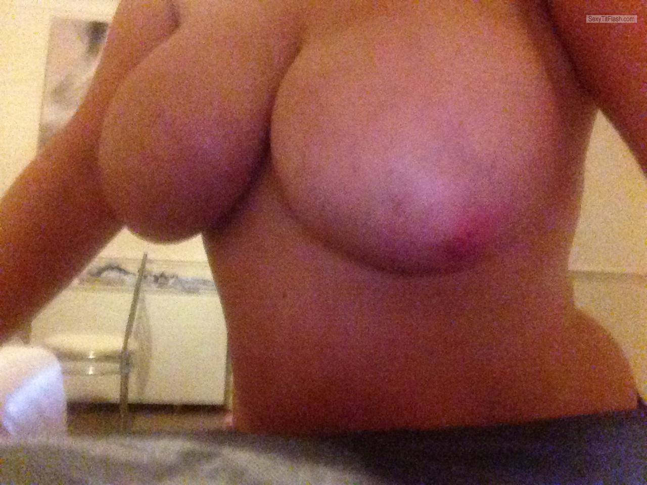Tit Flash: My Very Big Tits - Topless Kissmynipples from United Kingdom